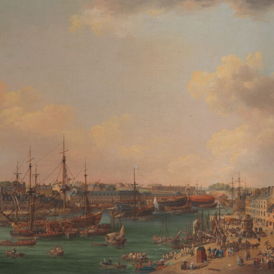 The Outer Harbor of Brest - Henri Joseph van Blarenberghe