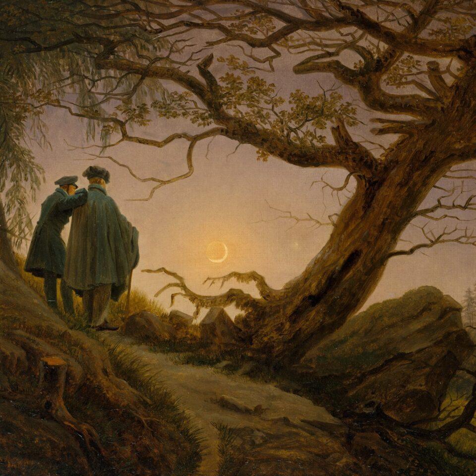 Two Men Contemplating the Moon - Caspar David Friedrich